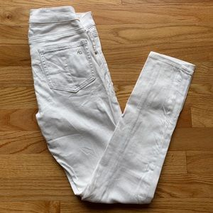 Rag and Bone white Capri jeans Sz 26